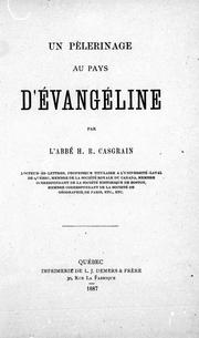 Cover of: Un pèlerinage au pays d'Evangéline