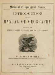 Cover of: Introduction to the Manual of geography | James Monteith