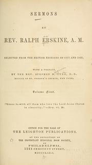 Cover of: Sermons | Erskine, Ralph