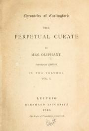 Cover of: The perpetual curate