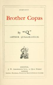 Cover of: Brother Copas | Arthur Thomas Quiller-Couch