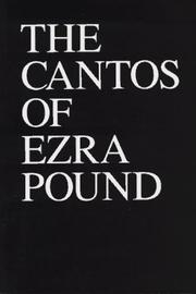 Cover of: The Cantos of Ezra Pound