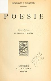 Cover of: Poesie