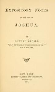 Cover of: Expository notes on the book of Joshua