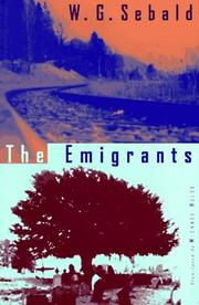 Cover of: emigrants | Winfried Georg Sebald