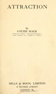 Cover of: Attraction | Louise Mack