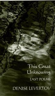 Cover of: This Great Unknowing