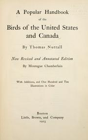 Cover of: A popular handbook of the birds of the United States and Canada