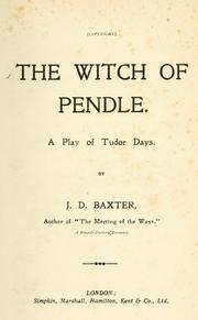 Cover of: The witch of Pendle