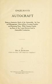 Cover of: Engelman's autocraft by Roy Albert Engelman