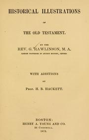 Cover of: Historical illustrations of the Old Testament