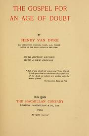 Cover of: The gospel for an age of doubt