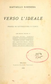 Cover of: Verso l'ideale