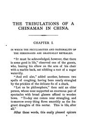 Cover of: The tribulations of a Chinaman in China