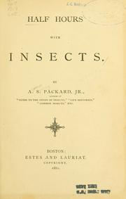 Cover of: Half hours with insects