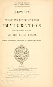 Cover of: (Alien immigration) | Great Britain. Board of Trade.