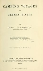 Cover of: Camping voyages on German rivers