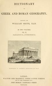 Cover of: Dictionary of Greek and Roman geography. | William Smith