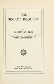 Cover of: The secret bequest
