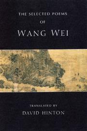 Cover of: The selected poems of Wang Wei