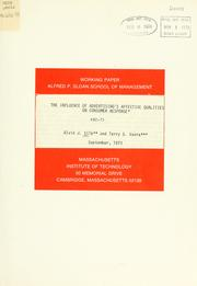 Cover of: The influence of advertising