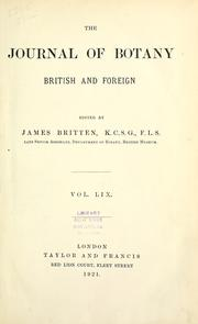 Cover of: Journal of botany, British and foreign. |