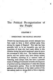 Cover of: The political re-organisation of the people