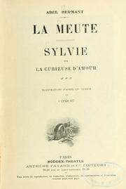 Cover of: La meute ; Sylvie, ou La curieuse d'amour