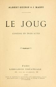 Cover of: Le joug