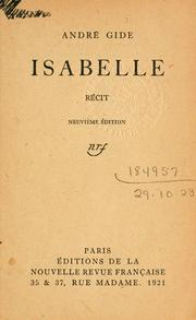 Cover of: Isabelle, récit