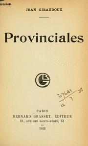 Cover of: Provinciales