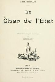 Cover of: Le char de l'état