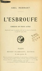 Cover of: L' esbroufe