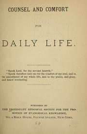 Cover of: Counsel and comfort for daily life. |
