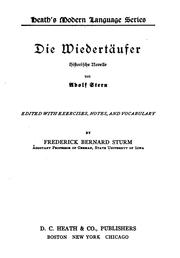 Cover of: Die Wiedertäufer