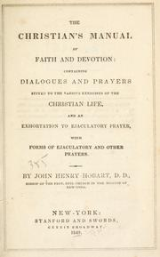 Cover of: The Christian's manual of faith and devotion