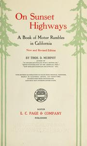 Cover of: On sunset highways | Murphy, Thos. D.