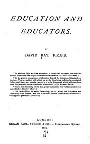 Cover of: Education and educators