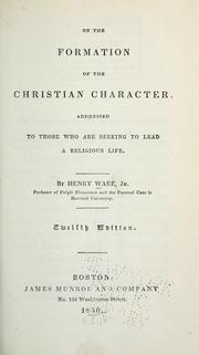 Cover of: On the formation of the Christian character