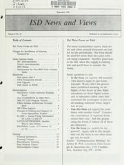 Cover of: ISD news and views | Montana. Dept. of Administration. Information Services Division.