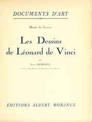 Cover of: Les dessins de Léonard de Vinci