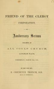 Cover of: Friend of the Clergy Corporation