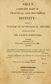 Cover of: Complete body of doctrinal and practical divinity