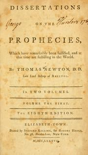 Cover of: Dissertations on the prophecies