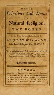 Cover of: Of the principles and duties of natural religion: two books