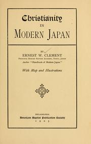 Cover of: Christianity in modern Japan