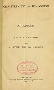Cover of: Christianity and Hindooism | Theodore Stephen Wynkoop