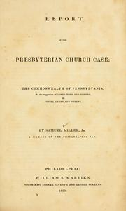 Cover of: Report of the Presbyterian church case