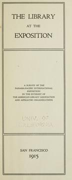 Cover of: The Library at the exposition |