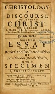 Cover of: Christology